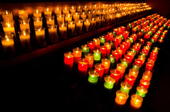 Votive candles (Julien Robitaille Photographie) Tags: church candles eglise lampion votive charlevoix eyecatcher chandelle stlawrenceriver icecanoeracing julienrobitaille ilseauxcoudres