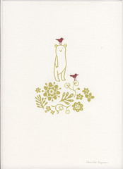 my friends (Camilla Engman) Tags: bear flower birds print silkscreen