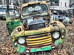 My Father's Truck (Desolate Places) Tags: old man ford that this like pickup f1 an just looks michele says 1947 farted tomdresselandhisfatherstruck ilovehowthecalledtowtruckswreckers andthetruckfromcars