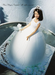 bridal barbie cake