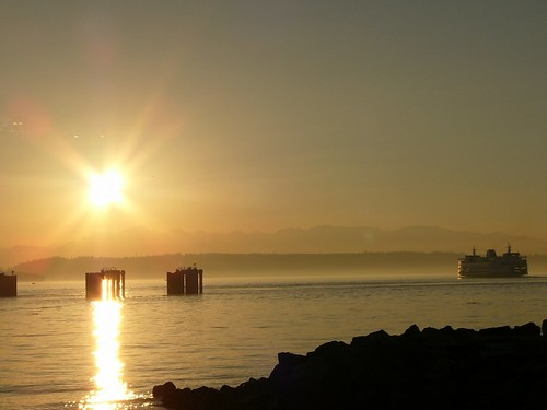 M/V Walla Walla departing from Edmonds on a sunny evening - By Brian Bundridge