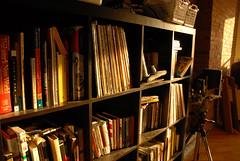 Sunset (acope) Tags: camera light sunset books bookshelf