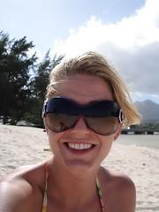 Me on Kailua Beach (aggiegogo) Tags: water hawaii sand waves oahu hiking surfing waterfalls agathe rentalcar sandybeach makapuubeach manoafalls eastoahu sharack kailiabeach waimanolobeach