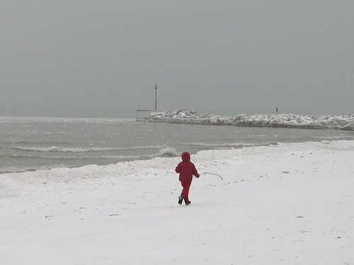 Snowsuit Kid on Beach II