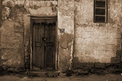 Old wALL And Door- Muharraq (Hussain Isa) Tags: old canon eos bahrain traditional explore creativecommons manama arad muharraq explorex hussainisa