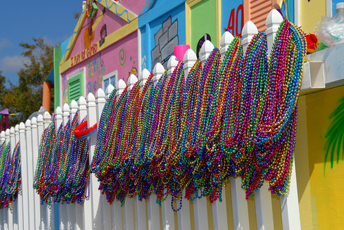 Mardi Gras, beads at the ready Flickr image by divemasterking2000