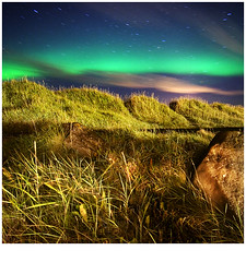 Moonlight (magnusmagnus) Tags: light green grass night d50 painting stars lights iceland nikon with norden aurora 24 nikkor reykjavk f4 1224 borealis grtta norurljs abigfave