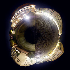 Fleischbruecke Polarpano (palimphread) Tags: panorama pano nuremberg 360 sphere polar stitched degree planetoid
