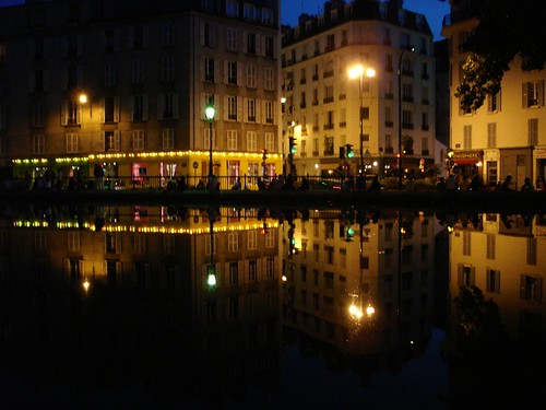 Canal St. Martin, summer in Paris