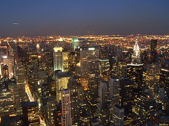 New York by Night by Melbow on Flickr