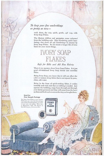 Norman Price, Ivory Soap Flakes ad, 1920