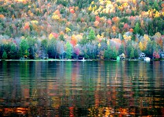 Reflection of Autumn (Lida Rose) Tags: autumn reflection fall topf25 bravo searchthebest quality adirondacks adk interestingness13 lidarose specnature theblueline gtaggroup goddaym1 bigmooselake bigmooseinn abigfave explore13oct06