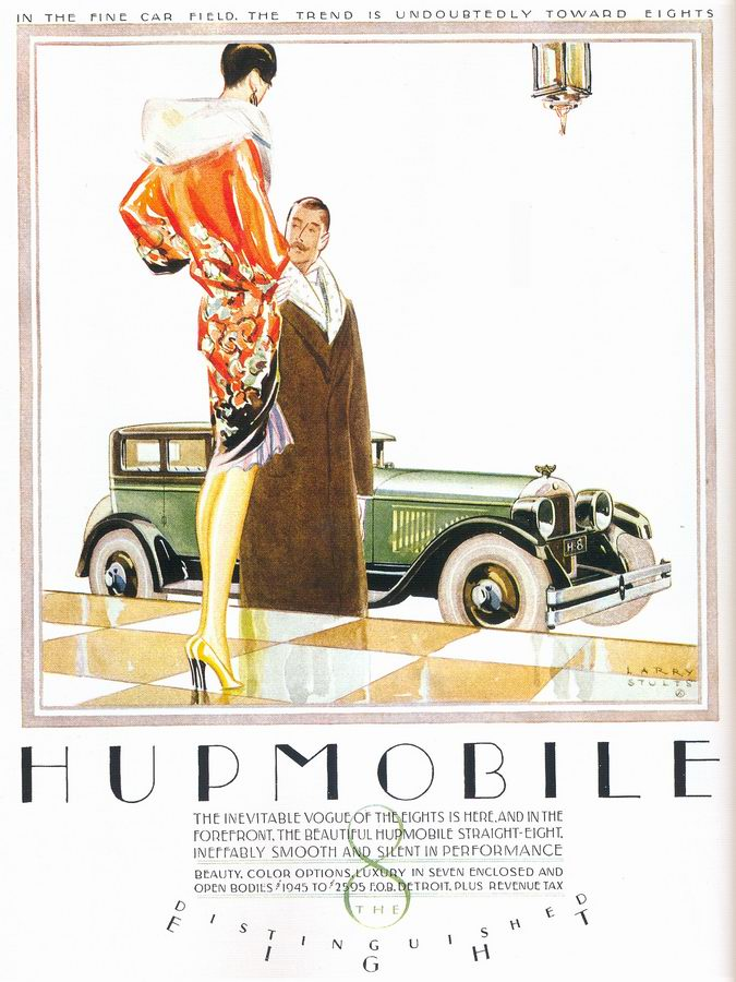 Vintage Ads Larry Stults Hupmobile Straight Eight Ad 1926
