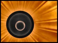 Black Sun (m00nbugg) Tags: light lamp circle abstract sun rays glow