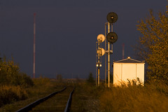 Sunset Rails III (D. C. Elliott) Tags: railroad sunset newbrunswick utatatrain rails settingsun utatacolorblack westcocknb