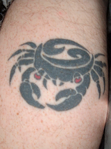 Sean's Cancer Crab Tattoo