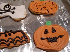 halloweeny (fruitsoup) Tags: halloween pumpkin scary cookie sweet ghost butt bat sugar icing bake butthole halloweencookie