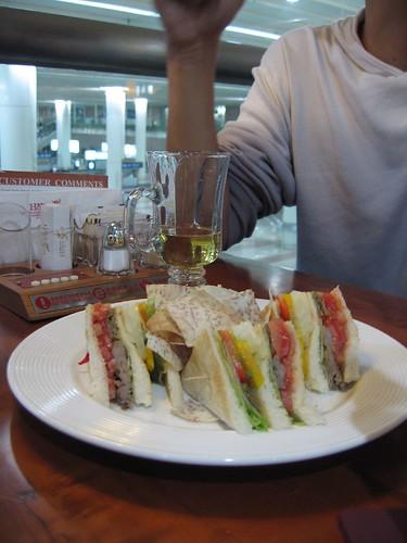 上海機場的餐廳