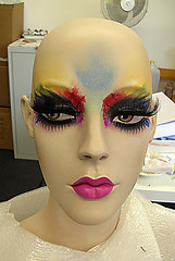 face 2 (buckaroo kid) Tags: painting mannequins display makeup shopwindow kathyarchbold mannequinmakeup