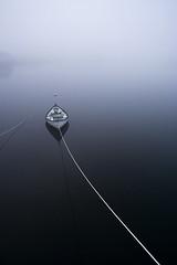 Bátur - Boat (Pezti) Tags: sea color colour water fog wow landscape boat iceland calm serenity 1855 coolest ísland siglufjörður roap landslag