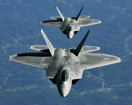 Fighter airplane picture - USAF-F-22_Raptor