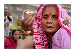 Women (Elishams) Tags: pink portrait woman india veil indian faith devotion varanasi hindu indianarchive hinduism kashi inde benares theface uttarpradesh  50millionmissing