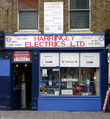 Harringey Electrics, Stoke Newington (Fin Fahey) Tags: city uk greatbritain england urban london shop geotagged europe unitedkingdom britain eu hackney guessed innercity guesswherelondon londonguessed europeanunion shopfront repairs stokenewington n16 spares northlondon capitalcity innerlondon northeastlondon washingmachinerepairs gwl harringey stokenewingtonchurchstreet finfahey londonshop guessedbymrjaded electricalshop harringeyelectrics