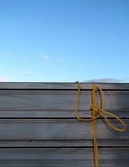 Sky Tie Dye (amy allcock) Tags: blue sky ontario canada abstract yellow 510fav construction october 2006 rope kingston