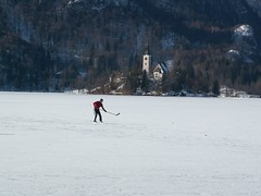 Hockey on Lake Bled (pbr42) Tags: people lake hockey slovenia