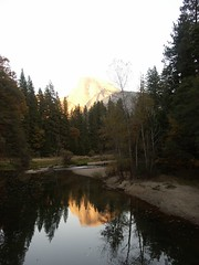 Reflection of Half Dome at sunset (gromitgirl) Tags: yosemite halfdome refelection