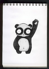 motion panda (Alitsche) Tags: motion sketch panda sketchbook website marker sketches blacknwhite schwarzweiß copic winkie winken deadbunnyde