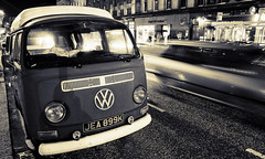 The Still and the Swift (m4r00n3d) Tags: topf25 vw night volkswagen nikon edinburgh nikond50 late van ue editions sigma1770mm carsnight uelateeditions