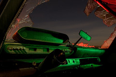 Space Junk (Lost America) Tags: lightpainting abandoned night plymouth fullmoon junkyard dashboard mopar hodge