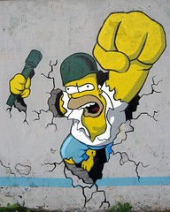 Homer Simpson graffiti by Nakor, Warsaw (duncan) Tags: streetart graffiti cool perfect simpsons homer warsaw characters thesimpsons homersimpson nakor