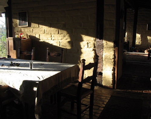 sunrise in the diningroom