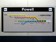 line_map (brunoboris) Tags: sanfrancisco signs station bart route signage powell powellstreet wayfinding bayarearapidtransit linemap pittsburgbaypoint