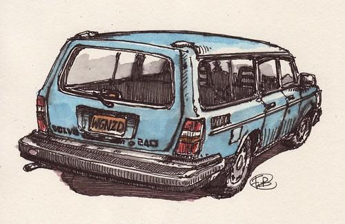 Volvo 240. #10 Volvo 240 wagon baby blue