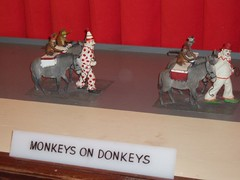 monkeys on donkeys!