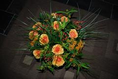 birthday flowers (Miek37) Tags: flowers roses orange flower ilovenature vase bouquet nikor d80 nikond80 18135mmf3556g