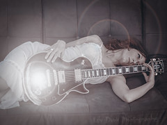 Couch Time (Keltron - Thanks for 8 Million Views!) Tags: staci beautifulgirl model modeling gibsonlespaul gibson attractive talented redhead redhair customgibsonlespaul