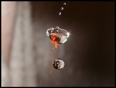Strange Shape of Fired Water Drop (RayDS) Tags: pictures camera color macro reflection water colors strange digital speed reflections photo droplets high bravo waterdrop colours action sony shapes pic drop cameras refraction droplet shape waterdrops acqua colori dsc goccia gocce h5 rayds