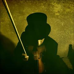 . Lăutari Lullaby . (3amfromkyoto) Tags: portrait selfportrait man male me hat self song sleep sp violin tophat instrument bedtime gypsy lullaby 3amfromkyoto lautari artlibre lăutari ohandnoicantplayp flickr:user=3amfromkyoto