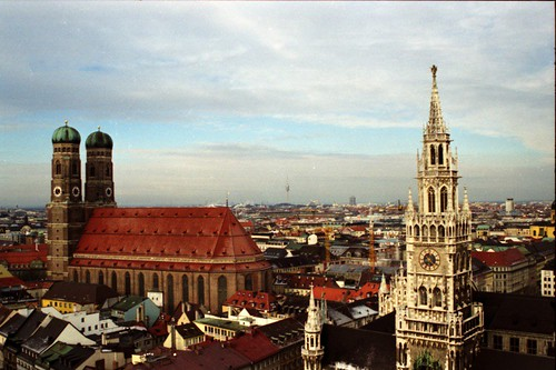 Frauenkirche and Neue Rathaus (New Town Hall) - Munich
