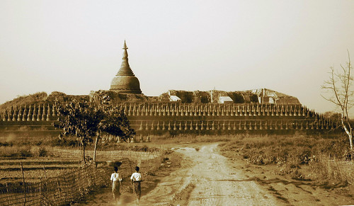 Koethaung Pagoda (sepia)