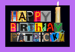 Happy Birthday, Patrick! (dogfaceboy) Tags: birthday patrick happybirthday 51 birthdaycard ocaritas oldfart happybirthdaypatrick patrickis51todayfridaydecember1st leslieyourethebest