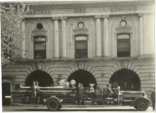 Truck 17 In front of Old Central
