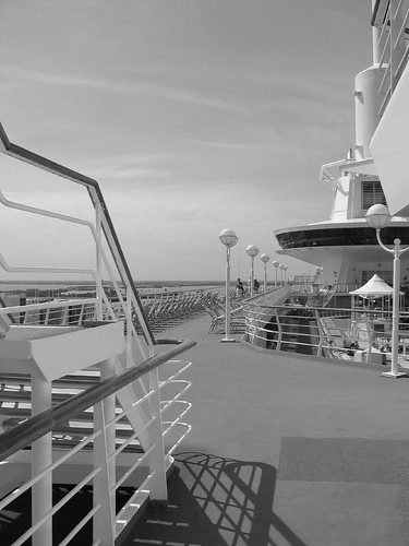 Top Deck Of The Cruise Ship