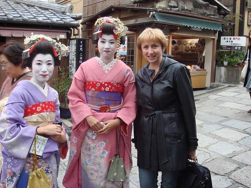 w maiko in Kyoto