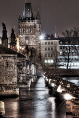Charles Bridge from Kampa (Stevacek) Tags: longexposure bridge night river geotagged czech prague prag praha most czechrepublic charlesbridge vltava hdr kampa noc karluvmost reka tthdr stevacek geo:lat=5008650976085087 geo:lon=1441119707677343