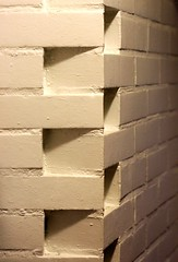 the dovetailed corner (cinnamint) Tags: brick wet rain architecture corner finland studio helsinki masonry overcast architect extension lunchroom alvaraalto dovetail interiordetail architecturefirm 23nov06 alvaraaltostudio